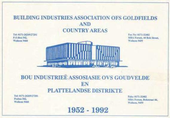 1952-1992 Brochure